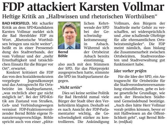 Hersfelder Zeitung vom 02.08.2016